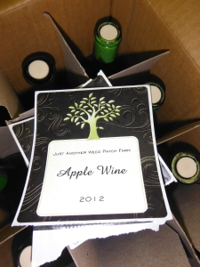 First batch of weed patch apple wine...