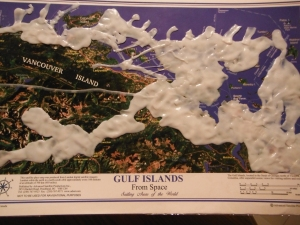 The ten year old spent hours making the putty invade the southern gulf islands (and it glows in the dark...so cool)